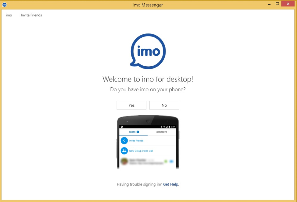 imo appel video gratuit pour pc windows 10